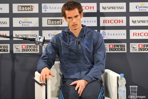 Andy Murray's sore bottom forced him to withdraw from tourney