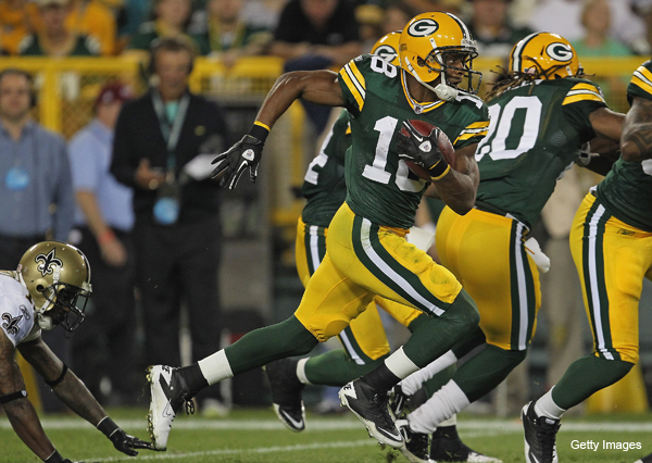 Green Bay's Randall Cobb, first NFL player born in 1990s, tears it up in rookie debut