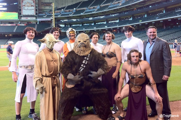 Hazing! These are not the Rockies rookies you're looking for