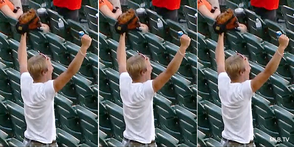 Thrice as nice: O's fan catches a homer on three straight nights