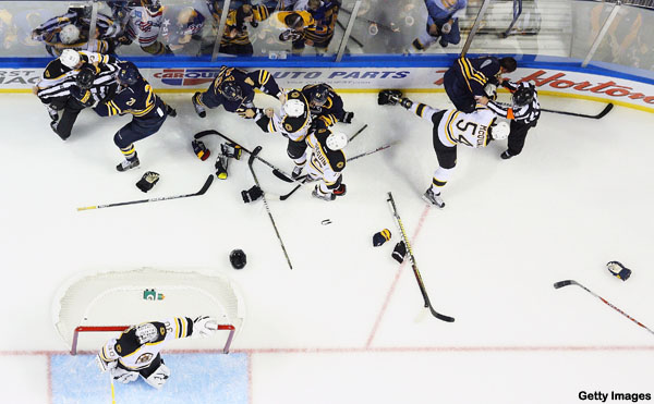 Sabres respond physically, fall in skills competition, ironically