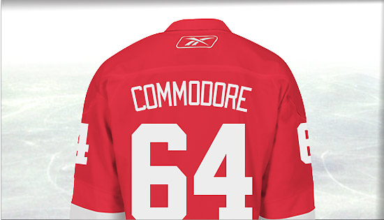 Why Mike Commodore must wear No. 64 with the Red Wings