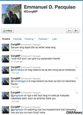 Blasted on Twitter, Pacquiao scraps his account