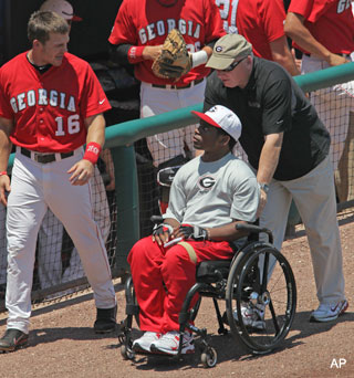 Nice pick: Rangers select paralyzed Georgia player in 33rd round