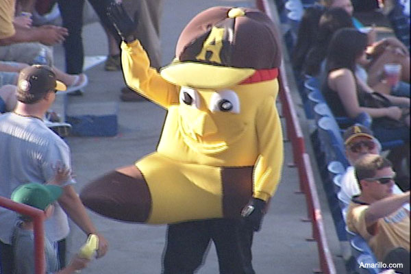 Mascot fail: Amarillo's stiff Sock sent back to wash