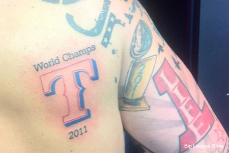Exhibit A: Why you should wait to get a Rangers World Series tattoo