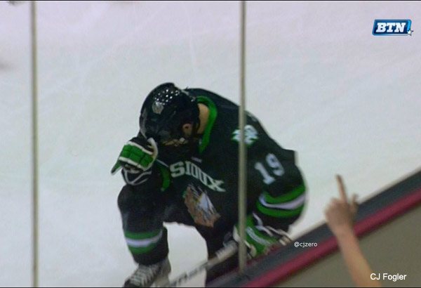 Here's Rocco Grimaldi Tebowing after 1st NCAA goal