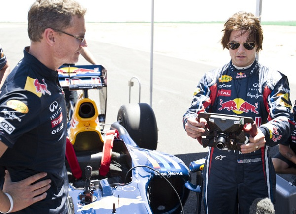 Tom Cruise takes to the track in a Red Bull F1 ride