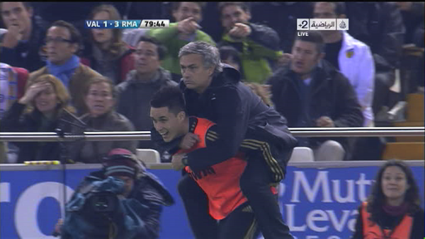 mourinho rides callejon