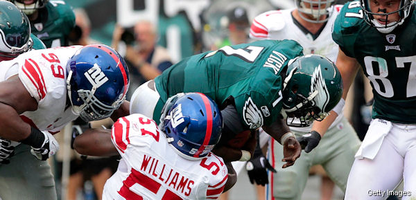 Michael Vick rips into refs after broken hand vs. Giants