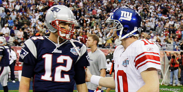 Eli Manning sees himself on Tom Brady's level