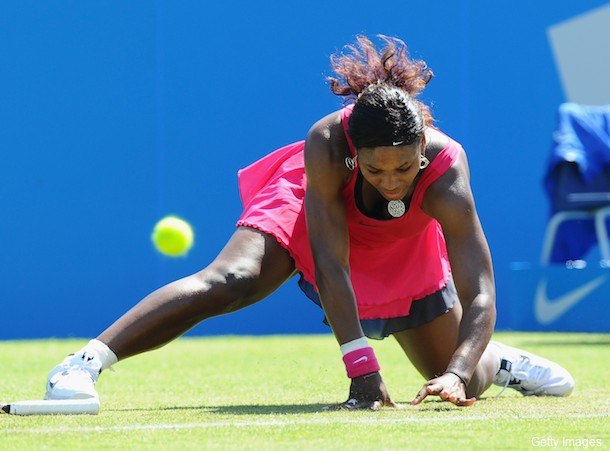 Rusty Serena Williams wins first match after yearlong absence