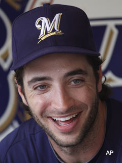 Ryan Braun muscles his way to first MVP
