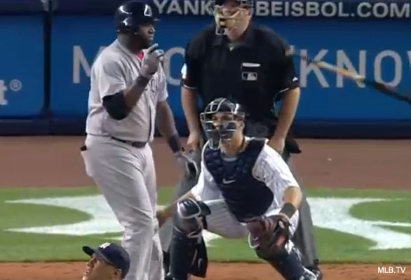 David Ortiz's bat flip creates stir in Red Sox-Yanks opener