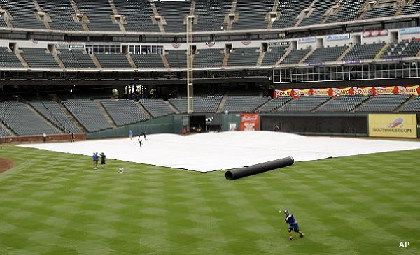 ALCS Game 2 postponed due to rain that has yet to arrive