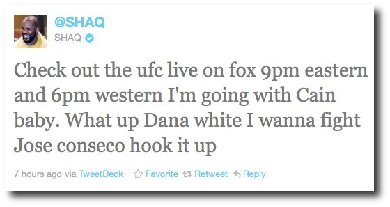 Shaq challenges Jose Canseco to MMA fight on Twitter