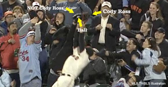 Giants fan escapes blame after Bartmanesque incident