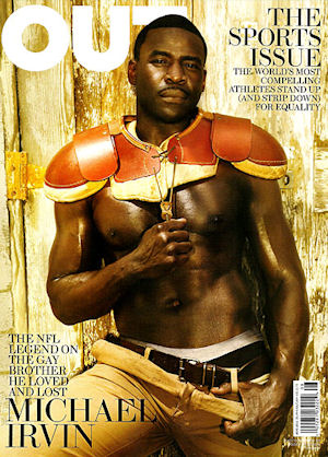 Michael Irvin is on the cover of Out magazine