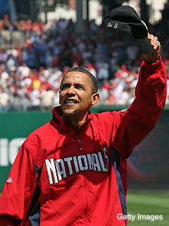 Why did Obama miss MLB's opening day?