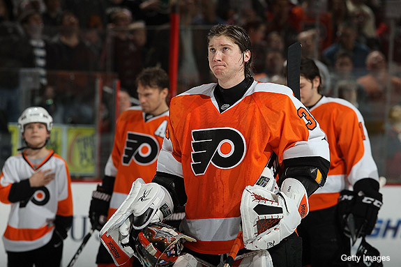 Chatting with Flyers goalie Sergei Bobrovsky about Bryzgalov, trading Carter/Richards, Pronger as captain and life as newlywed