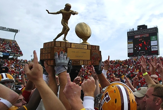 New Cy-Hawk Trophy is simultaneously the quaintest and strangest trophy in sports
