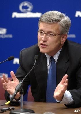 Penn State president backs embattled AD in child sex case