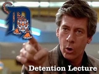 Detention Lecture: Your 2011 Detroit Tigers