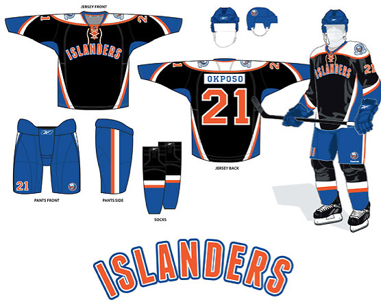 Is this the New York Islanders' new black 3rd jersey?