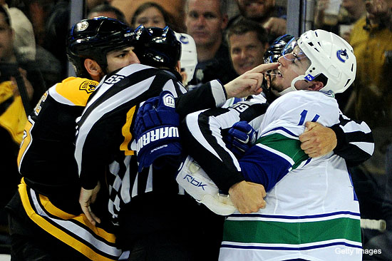 Video: Milan Lucic escalates finger bite mockery with Canucks