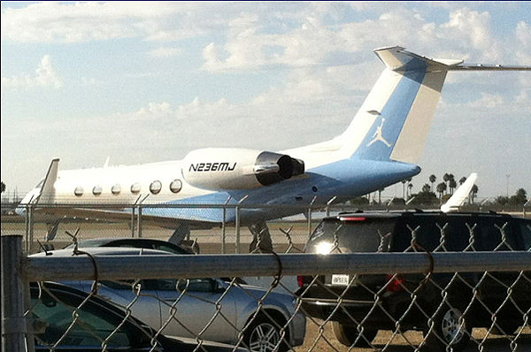 Michael Jordan's personalized private plane