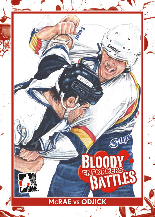 Bloodstained hockey cards celebrate NHL enforcers; bad timing?