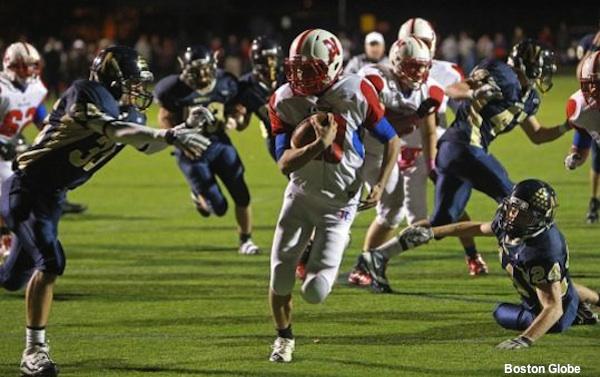 Natick quarterback Troy Flutie