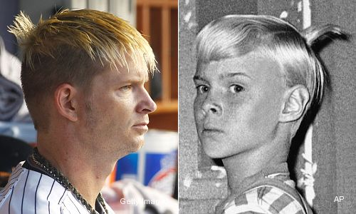 Photo: A.J. Burnett's 'Dennis the Menace' haircut
