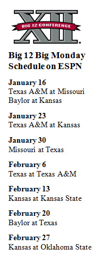 Next year's Big Monday schedule reflects parity in the Big 12
