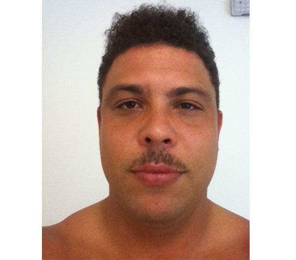 Ronaldo with a moustache