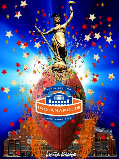 Critiquing the official poster of Super Bowl XLVI