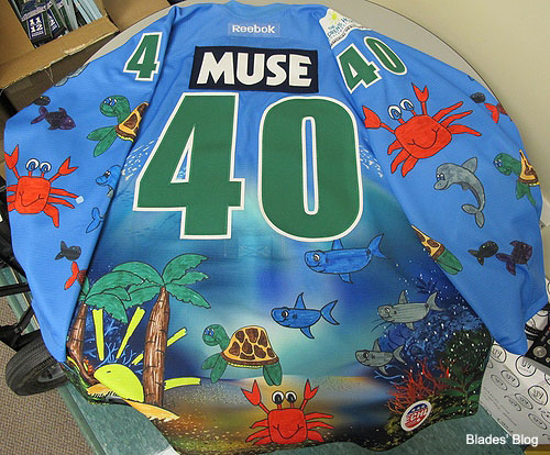 Everblades 'under the sea' hockey jersey is goofy, sadly snark-proof