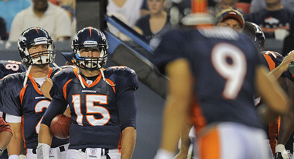 Depth charge: Tebow drops to third QB in Broncos' win over Bills