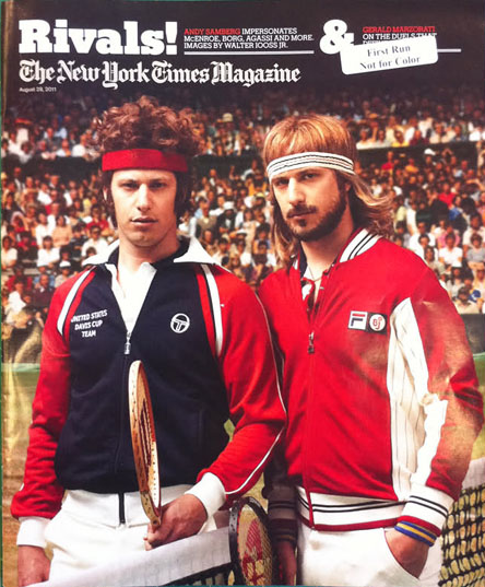 Andy Samberg portrays McEnroe, Borg on NYT Magazine cover