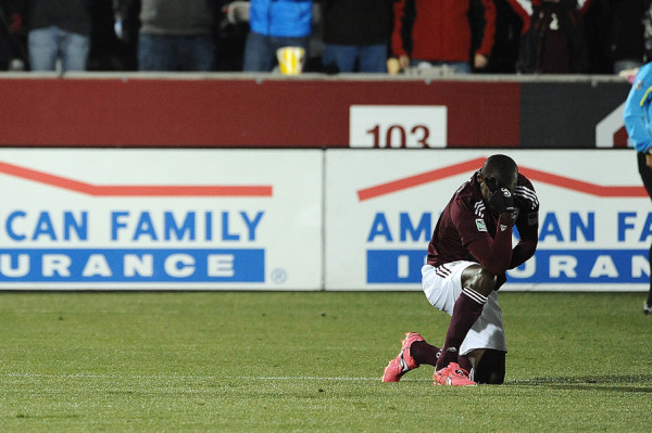 Omar Cummings brought Tebowing to the MLS playoffs