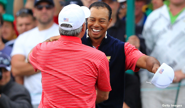 Tiger Woods secures deciding point to help U.S. win Presidents Cup