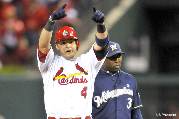 NLCS Game 5: Cards move one win away after 7-1 romp