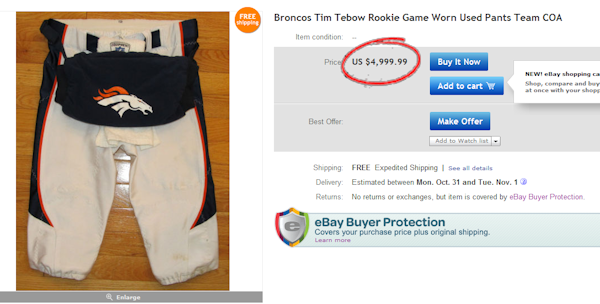 Treat yourself to the pants of Tim Tebow