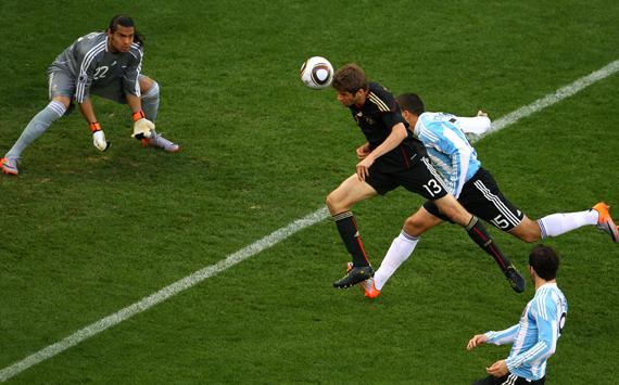 Germany sent Argentina packing with a stunning quarter-final performance.