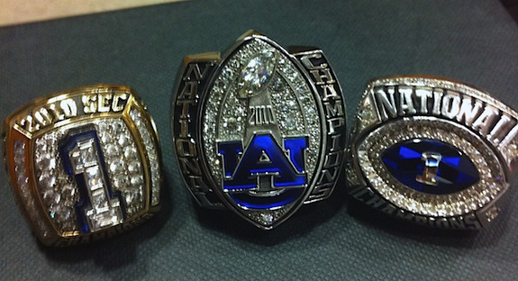 Good things come in threes: Auburn's championship bling has arrived