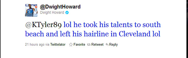 Dwight Howard takes a joking, if needless, shot at LeBron's hair