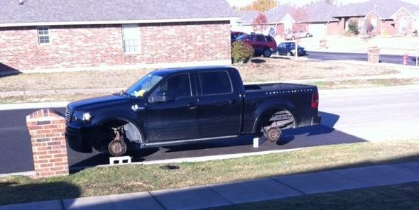 Landry Jones' truck was a victim of tire-jacking