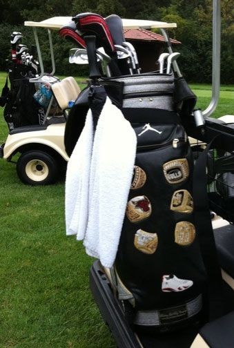Michael Jordan's golf bag is six times more awesome than ordinary golf bags