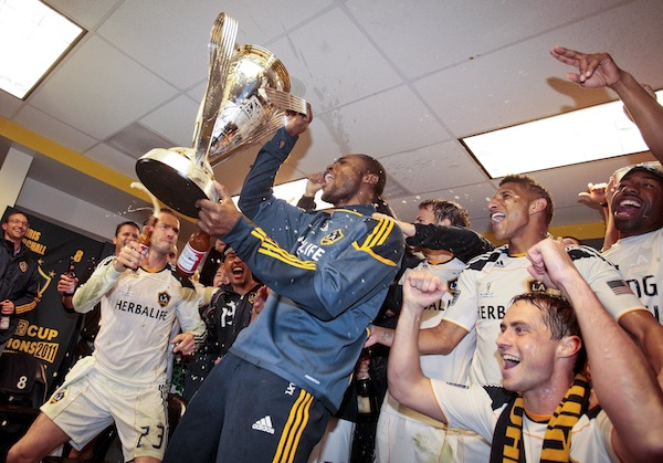 Beckham gets a little teary, celebrates MLS CUP with a Budweiser ...