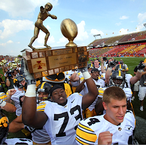 Dismayed Iowans veto the new Cy-Hawk Trophy